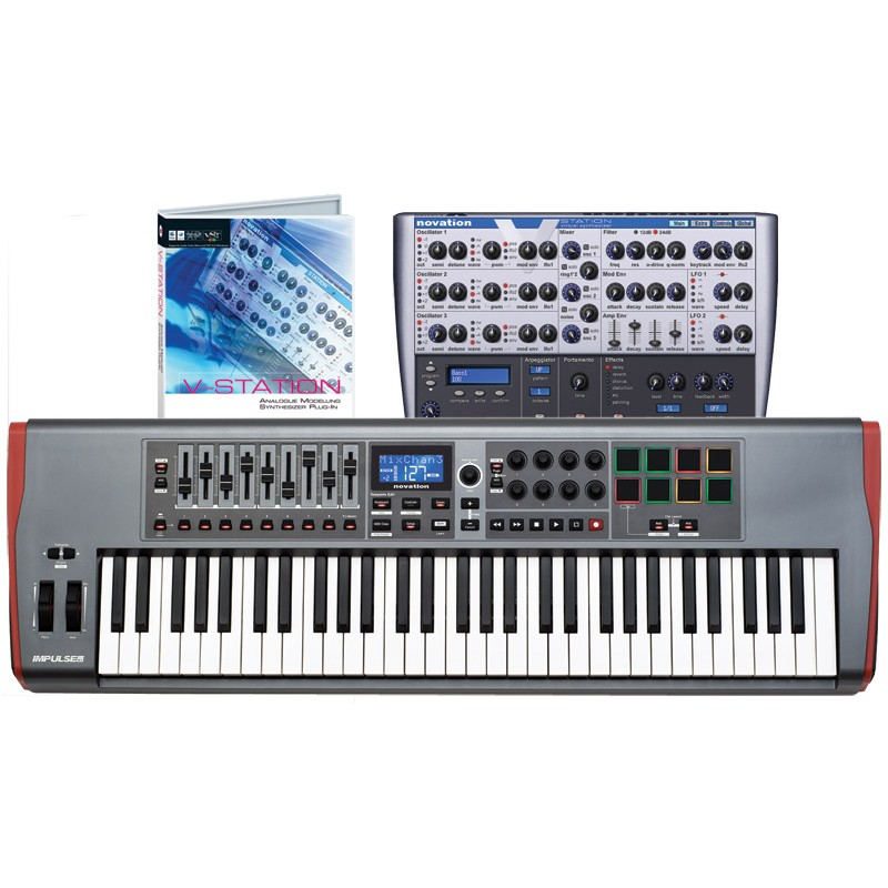 special offer novation impulse 61 usb midi controller keyboard w free v station virtual. Black Bedroom Furniture Sets. Home Design Ideas